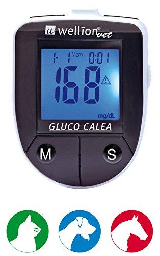 Med Trust WellionVet Gluco Calea Blutzuckermessgerät, Option:1 Stück