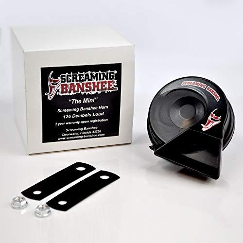 Screaming Banshee Mini Banshee Horn Kit, 126dB, Universal Upgrade for Most Motorcycles, Compact and...