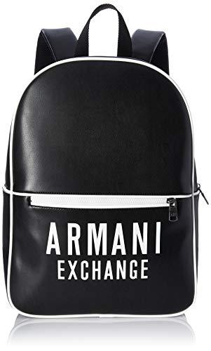 AX Armani Exchange - Zaino da uomo in ecopelle con logo in evidenza - nero - taglia unica