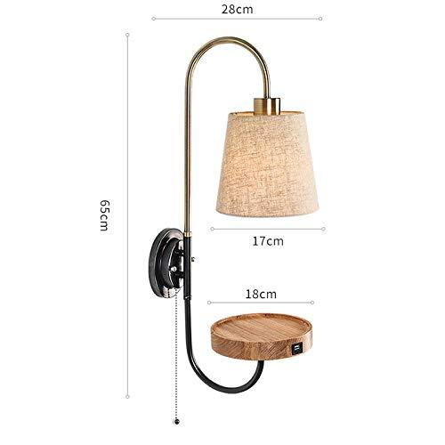 LED wandlamp van Scandinavisch ijzer stof voor slaapkamer bedlampje hotelkamer