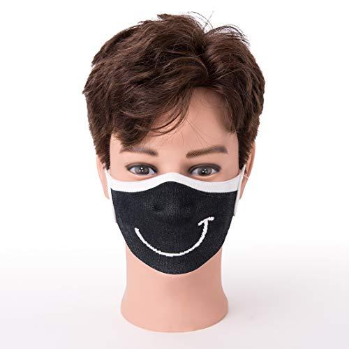 SonnenStrick Behelfs Mund und Nasen Maske mit Wendemotiv Smile/permanentes antimikrobielles Additiv/waschbar 60 Grad / 100% made in Germany, 200 g, 300918S