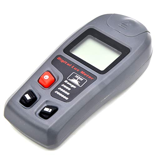 Ammily MT-30 Handheld Multifunction Digital Lux Meter 200000 Lux Digital LCD Pocket Light Meter Lux/FC Illuminance Meter