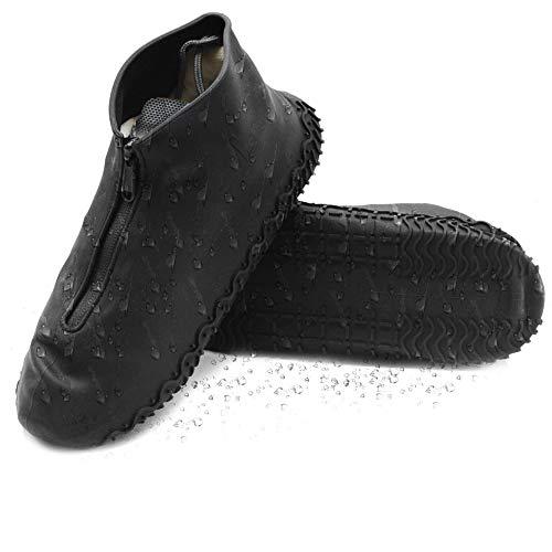 DolDer Überschuhe, Schuhüberzieher wasserdicht, perfekt für Regen, Wandern und Gassi Gehen Hund, Regenüberschuhe (Größe L, schwarz)