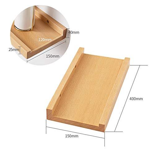 Zwevende Planken, Houten Decoratieve, Zwevende Plank Tv-Componenten, Garage/Schuur/Magazijn/Vrijstaande Opslagplanken,Beuken Rek-400X150Mm
