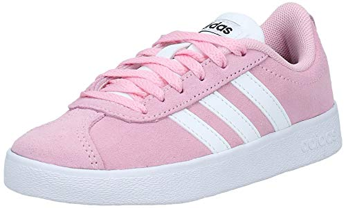 Adidas Vl Court 2.0 K, Zapatillas de deporte Unisex niños, Multicolor (Rosaut/Ftwbla/Negbás 000), 33 EU