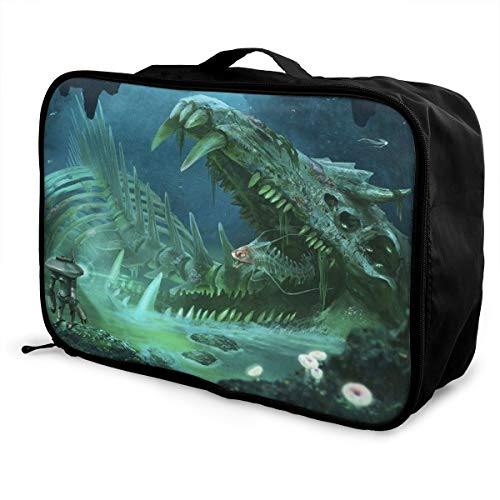 Subnautica Travel Luggage Duffel Bag Lightweight Suitcase Portable Bags For Women Men Kids Waterproof Large Backpack Capacity