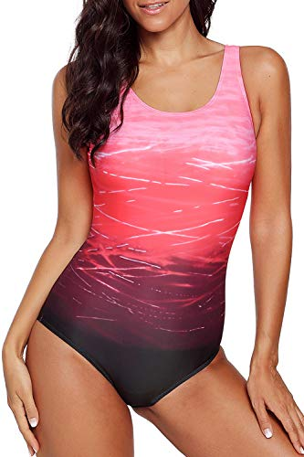 CILKOO Women's One Piece Swimsuits for Women Athletic Training Swimsuits Swimwear Bathing Suits for Women Red US18-20 XX-Large