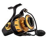 "PENN Fishing Spinfisher VI Saltwater Spinning Reel, 8500, 4.7:1 Gear Ratio, 42"" Retrieve Rate, 6 Bearings, Ambidextrous, Black Gold, 8500"