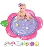 Tummy Time Baby Water Mat! Baby Girl Inflatable Play Mat with Floating Tummy Time Toys is The Perfect Baby Water Mat for Your Little Sweetheart! Brand New 2020 Flower Design!