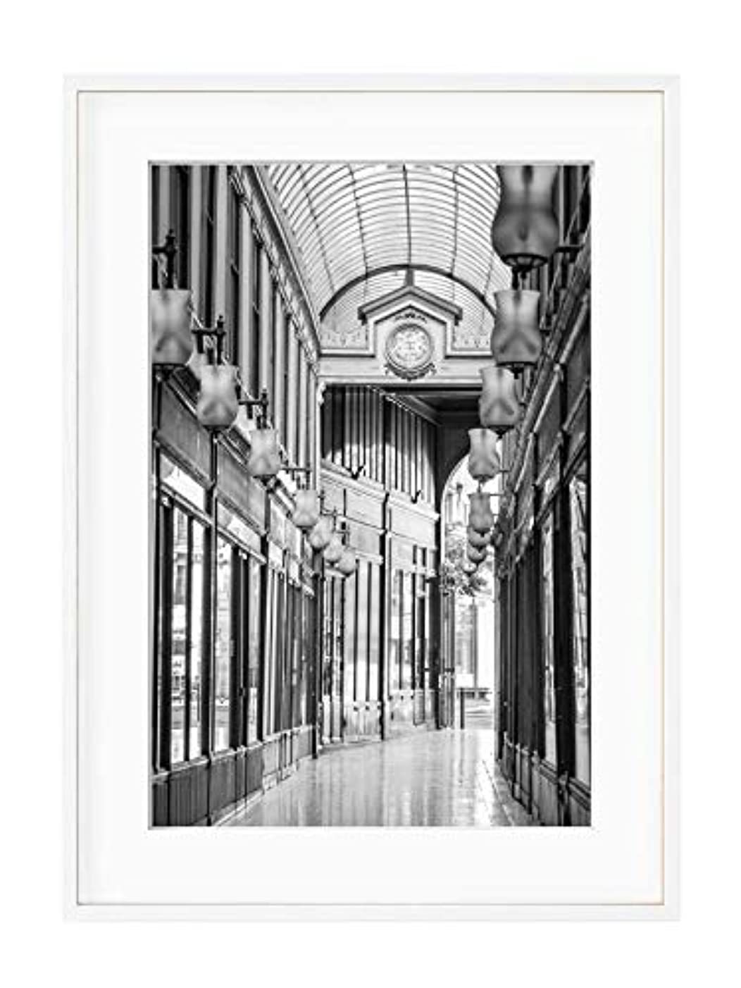 Gallery of Ostende, Black Satin Aluminium Frame, with Mount, Multicolored, 40x50