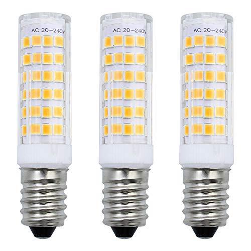 MZMing [3 Stück] E14 LED Birne 7W äquivalente 50W Halogenbirne Warmes Weiß 3000K LED 680 Lumen Dunstabzugshaube Lampe AC220-240V Energie sparen 75 SMD2835 Edison Schrauben-Birnen SES Nähmaschine Lampe