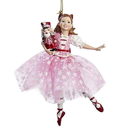 Kurt Adler Dancing Clara Christmas Ornament,Pink
