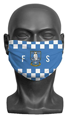 Personalised Sheffield Wednesday FC Initials Adult Face Mask- Large