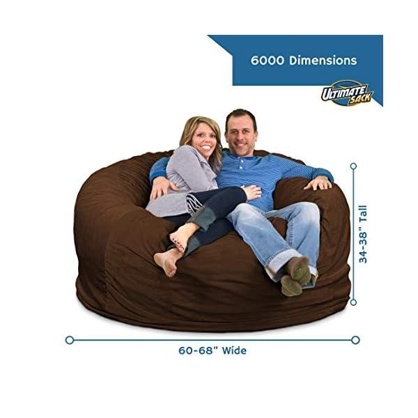 ULTIMATE SACK 6000 Bean Bag Chair dimensions