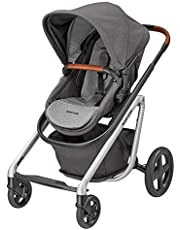 Maxi-Cosi Liliowy wygodny wózek dziecięcy, odpowiedni od urodzenia, system podróżny z wanną dla niemowląt, 0 miesięcy – 3,5 lat, 0 – 15 kg, Nomad Grey (szary)
