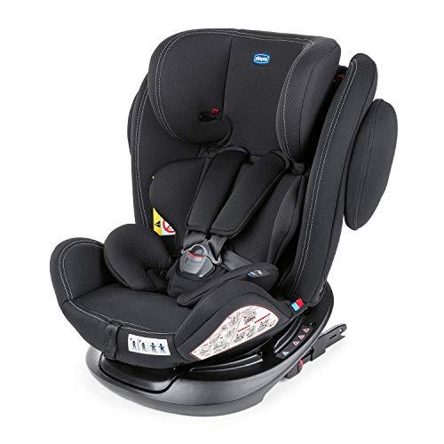 Chicco Unico Plus Auto Kindersitz 0-36 kg ISOFIX, Verstellbarer Kindersitz Gruppe 0-3 für Kinder von 0-12 Jahren, Einfache Installation, Verstellbare Kopfstütze, Seitenschutz und Säuglingseinsatz