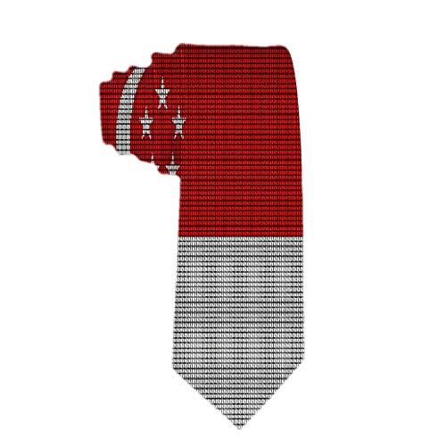 Mens Singapur Bandera Crochet Patrón Corbata Poliéster Corbata Jacquard Corbatas Hombre Novetly Regalo