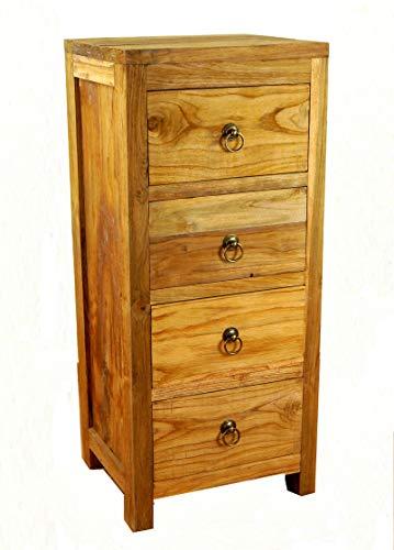 livasia Java Kommode aus Teakholz | Schubladenschrank aus Massivholz | Garderobenschrank der Marke Asia Wohnstudio | Teakholzschrank | Badezimmer- Schlafzimmer Kommode | (Handarbeit)