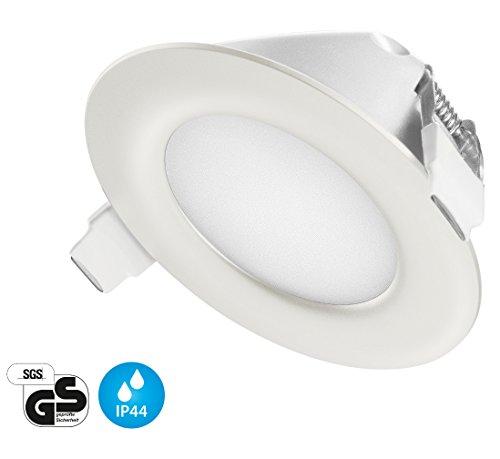 Ultra Flach LED Einbaustrahler IP44 für den Wohnbereich | auch für das Bad geeignet | Warmweiss Kaltweiss | 4W 230V Einbauspots Einbauleuchten Badleuchten (Warmweiss)