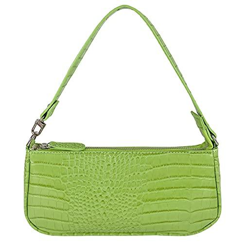 Hidora Elegant Classic Shoulder Tote Handbag with Zipper Closure for Women (Light Green)