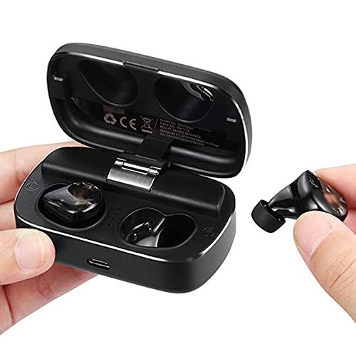 HJFGIRL Auriculares Inalámbricos,MH Auriculares Bluetooth Inteligentes, Reducción de Ruido CVC, 6H Tiempo de Juego, Carga Rápida USB-C, IPX5 a Prueba de Agua, Control de...