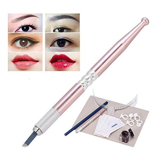 Permanent Augenbraue Tattoo Make up Übungsset, Micro Nadel Pen, Augenbrauen Microblading Pen, Tinte Tassen, Praktische Haut Set, Tattoo Augenbraue Creme, Eyebrows Measuring Ruler, Tattoo Bleistift