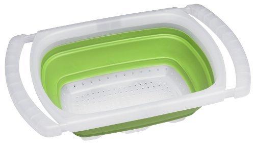 Progressive CC-13GMAX Küchensieb, faltbar, 6 l, Grün by Progressive
