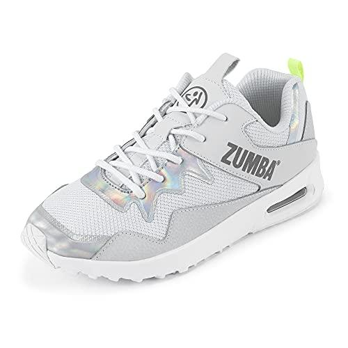 Zumba Air Classic Gym Fitness Turnschuhe Sportsliche Athletic Tanzschuhe Damen, Classic White, 38.5 EU