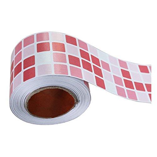 THEE Küche Anti-Öl Wandaufkleber Aluminium Folie Film schutzfolie Selbstklebend Dekorativ Badezimmer Wandsticker Fliesenaufkleber