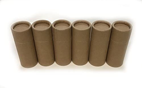 Empty Cardboard Deodorant Containers 2 5 oz Push up style top fill reusable and biodegradable product image