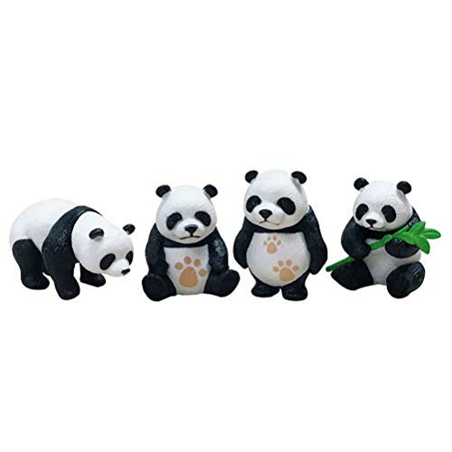 VOSAREA 4 Pcs Mini Panda Kits Miniatures Panda Miniatures Figurines Ornements Maison Jardins Paysage DIY Décoration