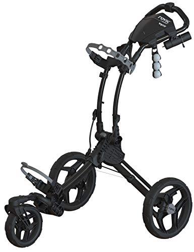 Clicgear Rovic Model RV1S Swivel | 3-Wheel Golf Push Cart (Charcoal/Black)