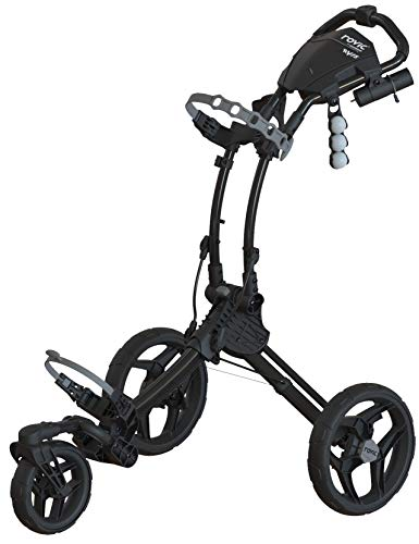 Clicgear Rovic Model RV1S Swivel | 3-Wheel Golf Push Cart (Charcoal/Black)