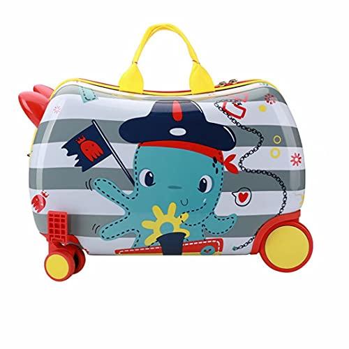 Valigia a rotelle per bambini da 17 pollici 54X23,5X31 cm Lucchetto a combinazione rigido in ABS 20 litri 2,5 kg 4 ruote Bagaglio a mano