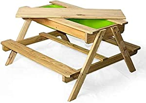 Maxx Table Pique Nique - Table de Jardin - Table de Jeu de Sable - 90x90x50 cm