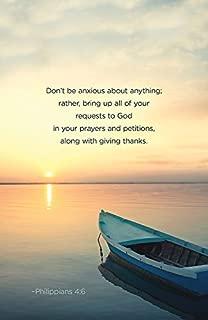 Don't Be Anxious Scripture Series Bulletin (Pkg of 50) (General Hymn Bulletin)