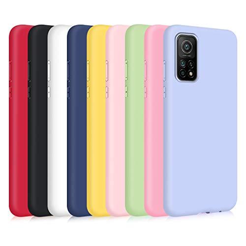 9X Funda para Xiaomi Mi 10T 5G/ Mi 10T Pro 5G, Ultra Delgado Color Silicona Carcasa Premium Suave Flexible TPU Gel Bumper Protectora Caso Anti-Rasguños Anti-Choque