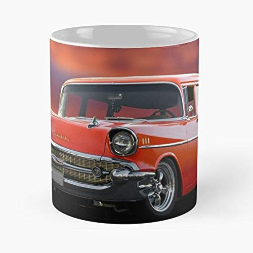 1957 Chevrolet Bel Air Wagon Classic Mug - Best Gift Coffee Mugs 11 Oz