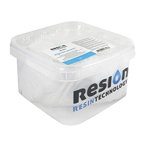 RESION Alginat polvo masa de moldear rosa blanca 1 kg polvo de deformación, masa de moldeado rápido, en 10 minutos, biodegradable, respetuoso con la piel