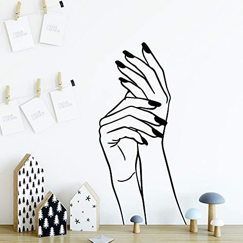 Blrpbc Adhesivos Pared Pegatinas de Pared Nuevo diseño Hecho a Mano calcomanía Mural de Vinilo póster para Nevera Pegatina Papel Pintado Impermeable 60x124cm