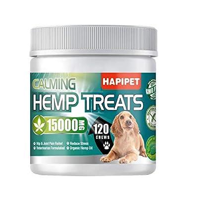 HAPIPET Hemp Calming Treats for Dogs, Premium N...
