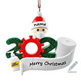 【Personalized DIY Christmas Ornament】2020 Family Personalized Ornament ,Personalized Name Christmas Ornament with Blank hat and banner. You can customize family unique Christmas ornament according to the name and text by oil pen 【Cute Patterns and Cr...