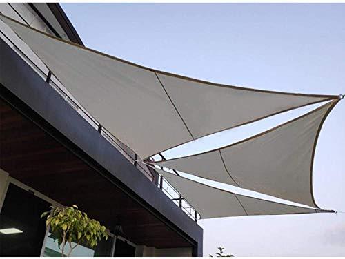 SYCEZHIJIA Toldo de toldo Rectangular de Vela con protección Solar 95% de Bloque UV para Fiestas en el Patio del jardín al Aire Libre con Cuerda Gratis. (Morado 3X3X4.3m)-Gris Oscuro_Los 3X3m 0315