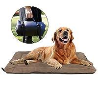 持ち運び可能な猫と犬の柔らかいペットベッドふわふわのペット用品折りたたみ式の厚く防湿ペットマット屋外の猫と犬のマット