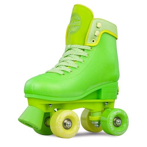 Crazy Skates Soda Pop Adjustable Roller Skates for Girls and Boys - Adjusts to fit 4 Shoe Sizes - Tutti Frutti Twist (Size: Medium   Sizes 3-6)