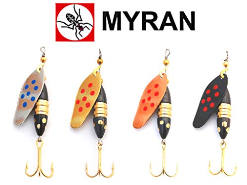 Raubfischstore Spinner Set - Myran Panter Pricking 15 g - 4 Farben