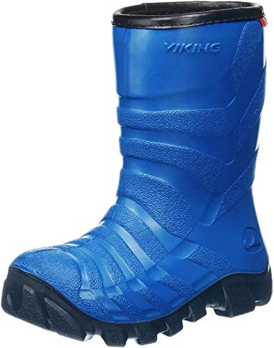 Viking ULTRA 2.0, Unisex-Kinder Schneestiefel, Blau (Blue/navy), 34 EU (2 UK)