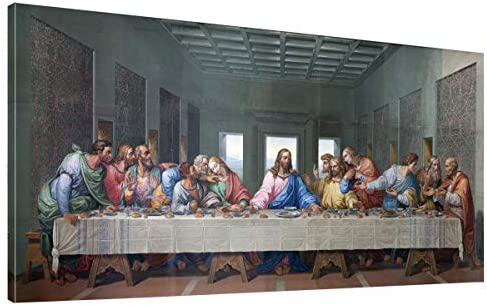 the Last Supper by by Leonardo Davinci Painting Print 24 x 48 Long Pictures Poster Modern Canvas product image