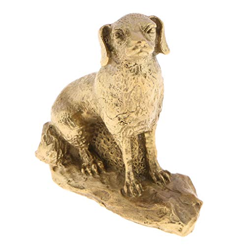 B Blesiya Animaux Laiton Chinois Statue Animale Zodiaque Décoration - Chien
