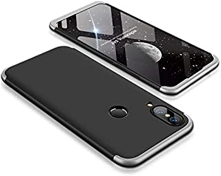360 Degree Protection Case Cover for Samsung Galaxy A30 - Black & Silver